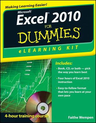 Excel 2010 Elearning Kit for Dummies By Wempen, Faithe
